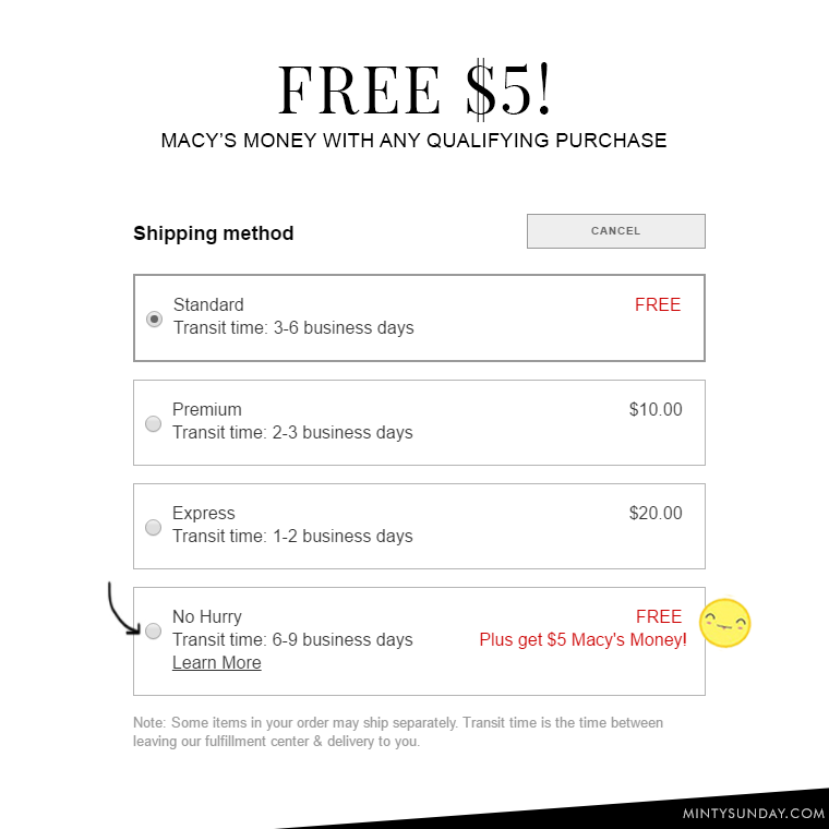How to get Macy's $5 Money