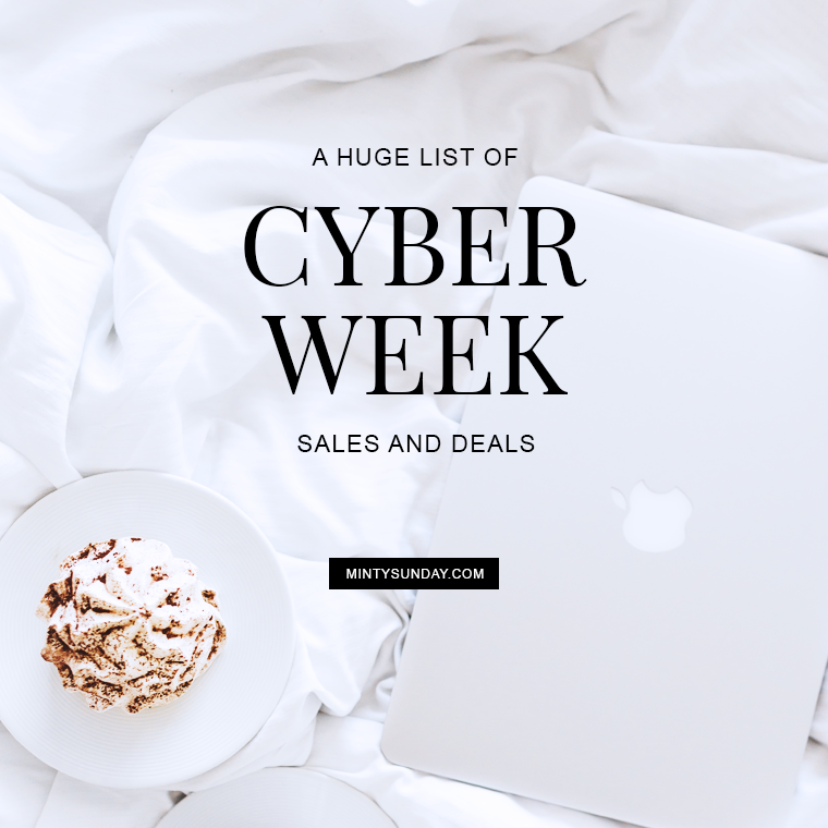 cyber week sales and deals