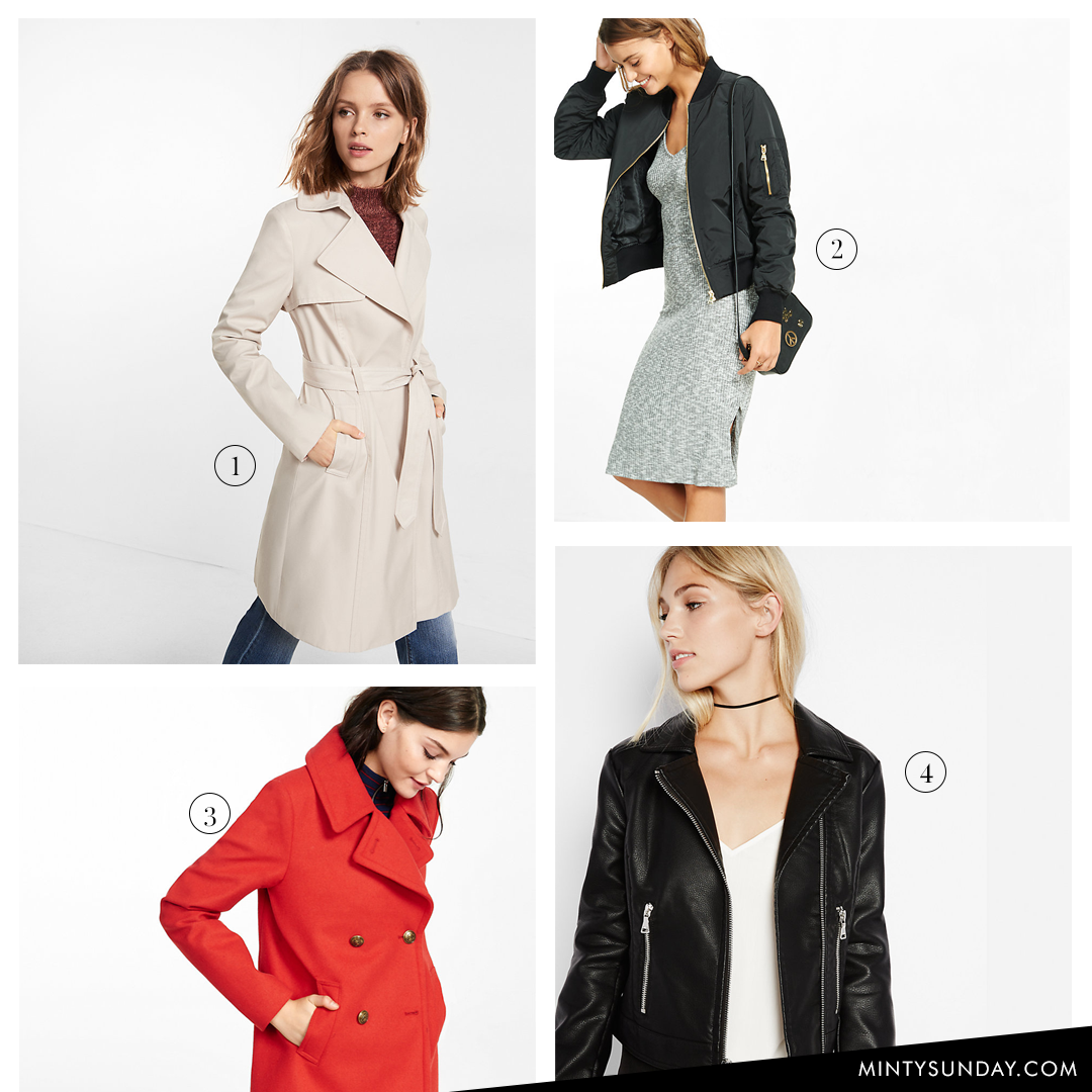 Express coupon outerwear