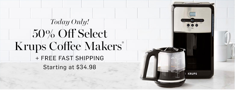 krups coffee maker deals and sales