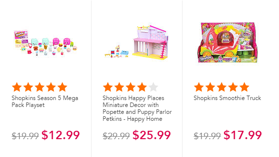 toys r us shopkins sale and free store credit
