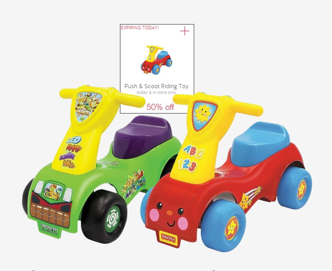Fisher-Price Push and Scoot Foot to Floor Riding Toy