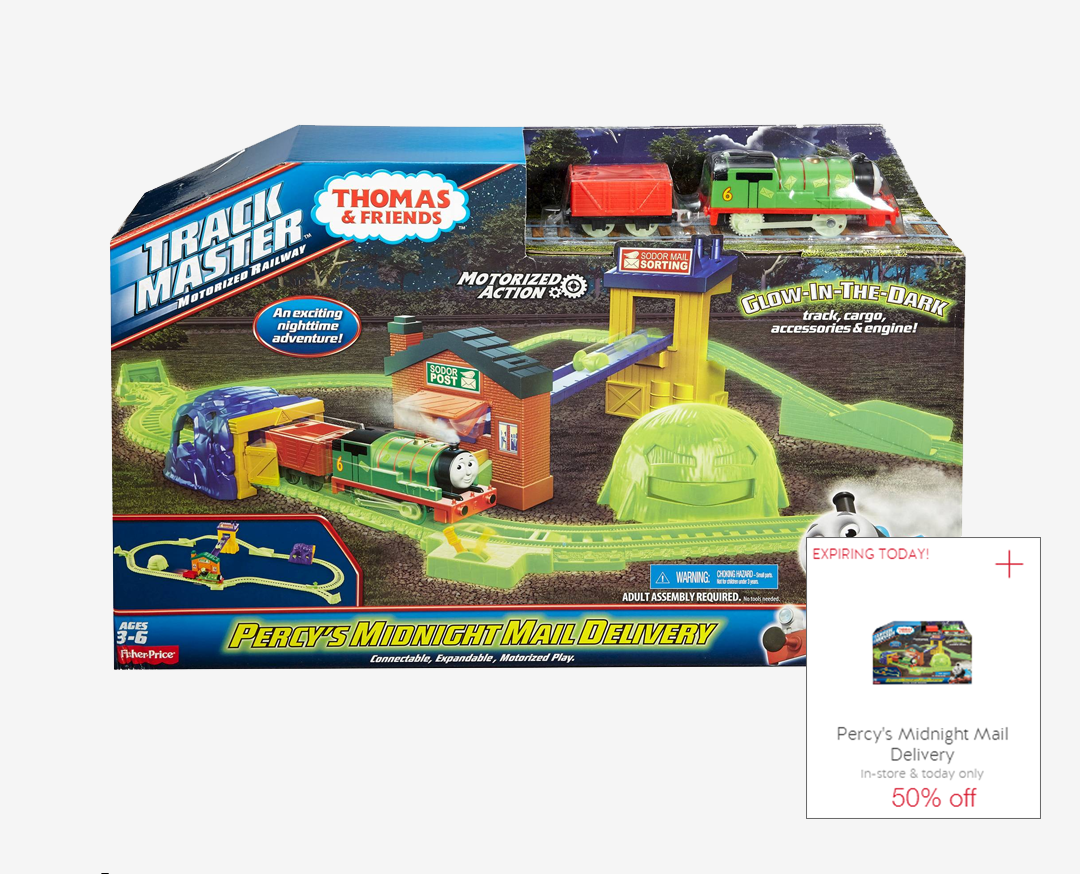TrackMaster Percy's Midnight Mail Delivery Target Cartwheel Offer