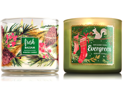 bath body works 3 wick candles only reg minty sunday. Black Bedroom Furniture Sets. Home Design Ideas