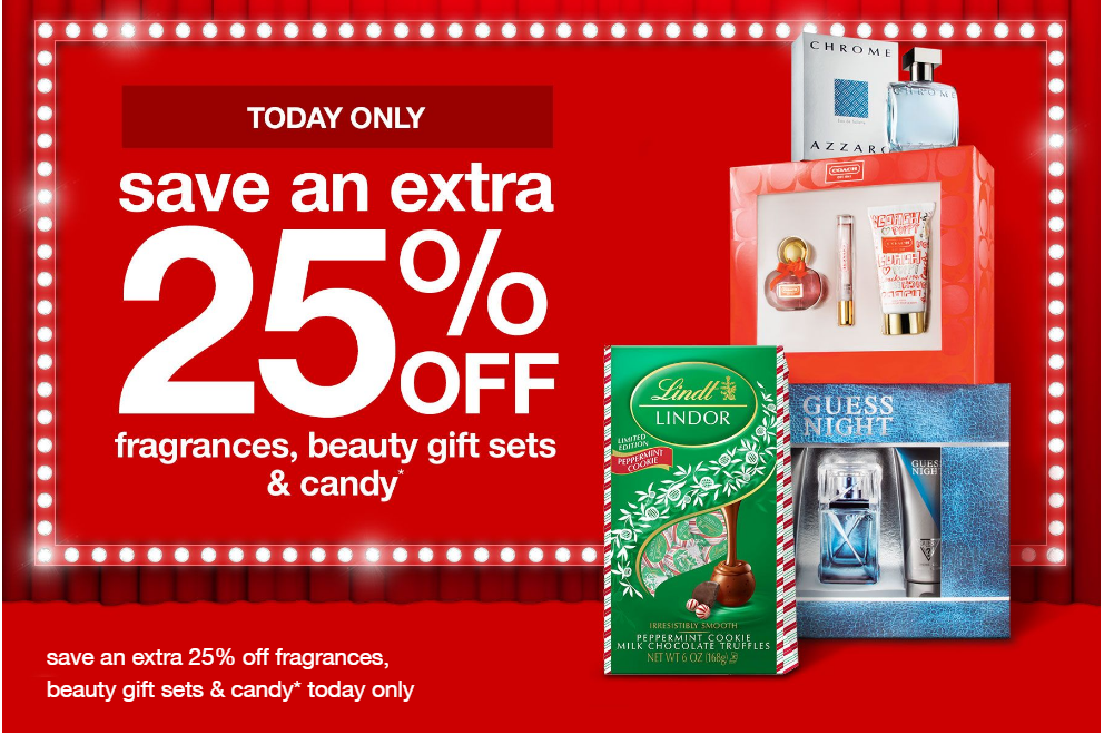 Save Extra 25% Off Fragrances Beauty Gift Sets And Candy At Target (Today Only!) - Minty Sunday