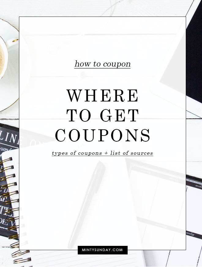 where to get coupons list