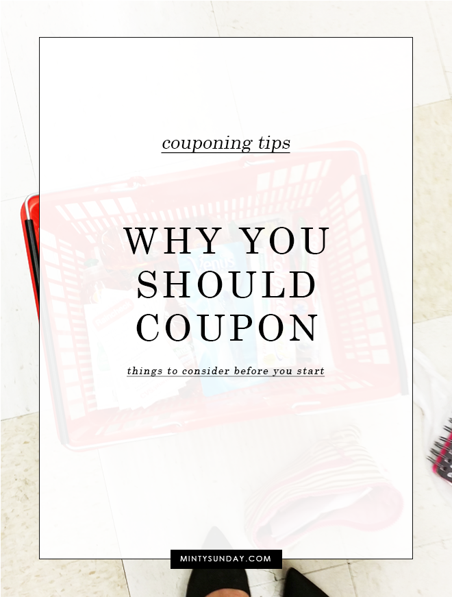 why you should coupon