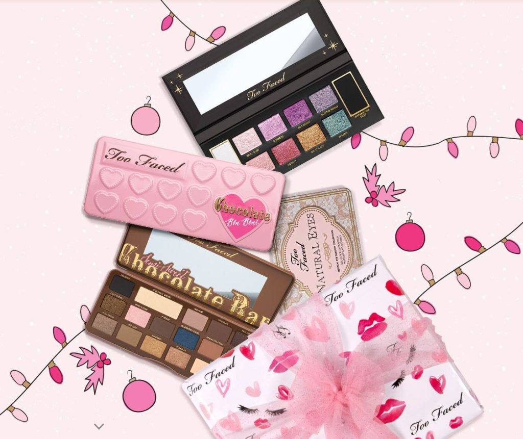 6 days of merry makeup too faced eye shadow palettes