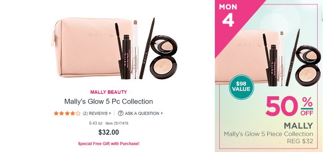ULTA HOLIDAY BEAUTY BLITZ EVENT 2017 mally glow 5pc collection