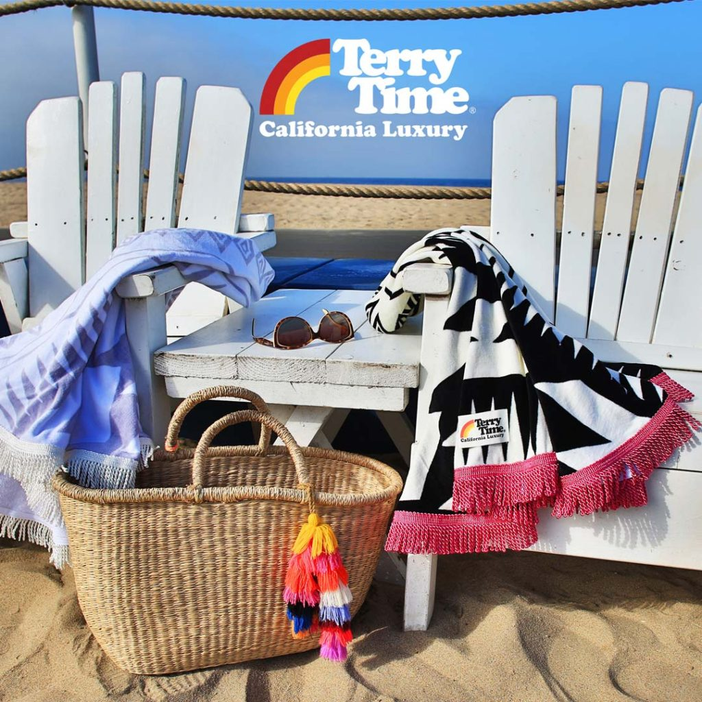 Terry Time Round Beach Towels