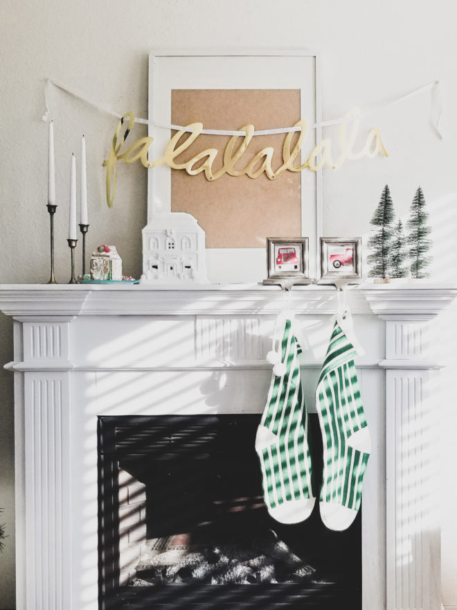 How I Simplified Holiday Decor 2018 mantle