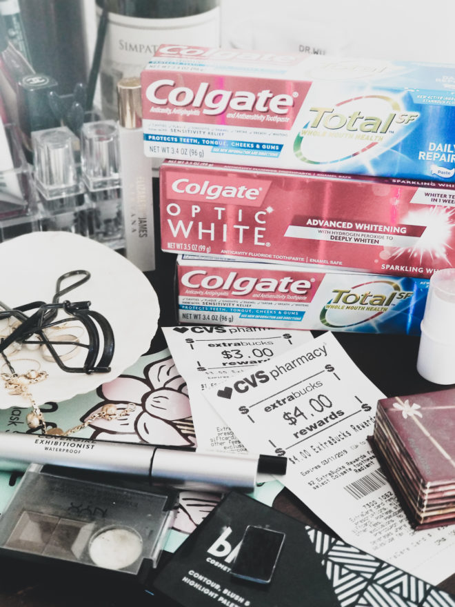 cvs haul 232019 free colgate toothpaste optic white