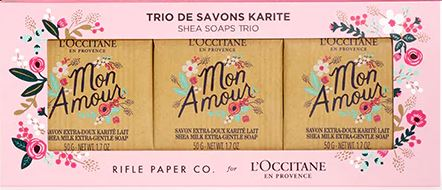 rifle paper co loccitane soaps