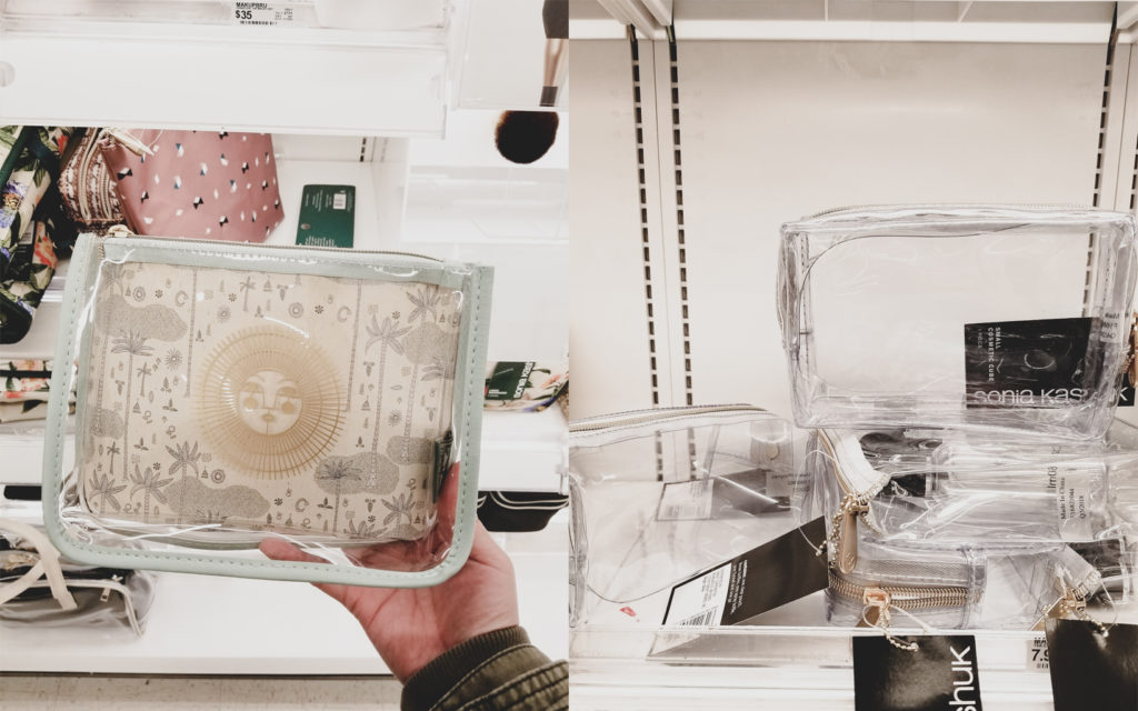 Target fave Finds clear cosmetics bags Sonia kashuk jungalow