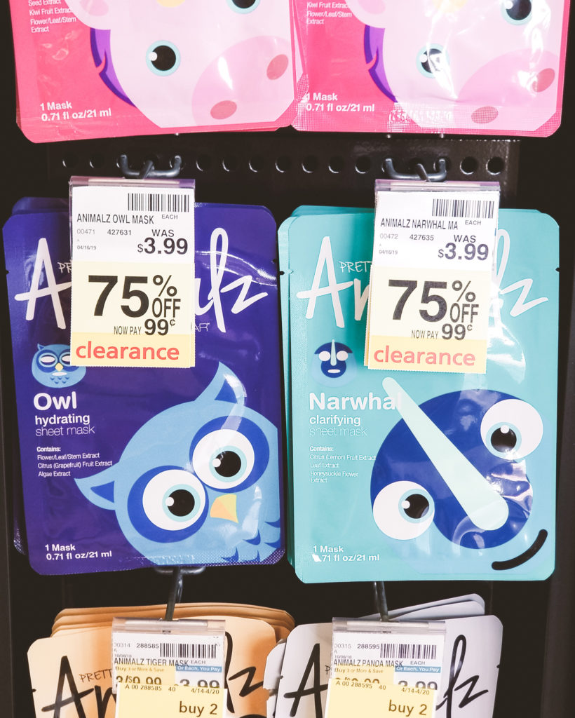 CVS clearance finds Animalz Sheet Masks