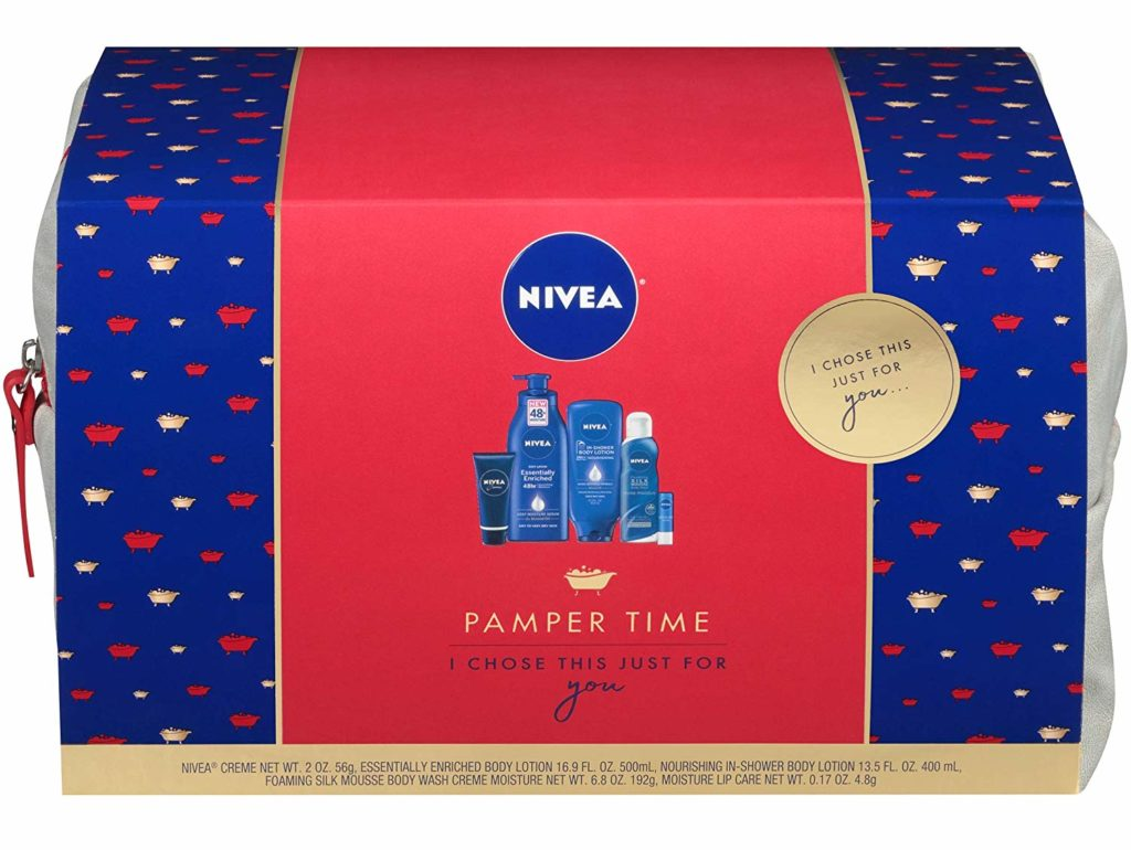 nivea pamper time gift set front