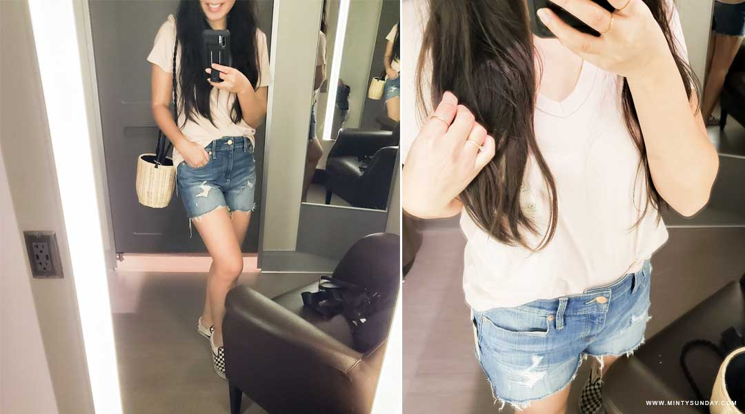 Target Try-On Jean Shorts for Moms