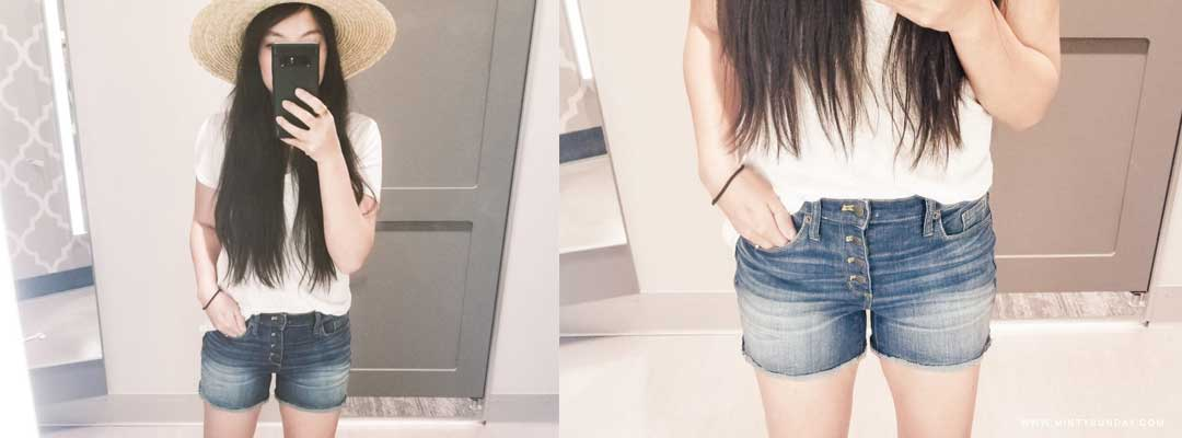 Target Try-On Button-Fly Jean Shorts for the Summer