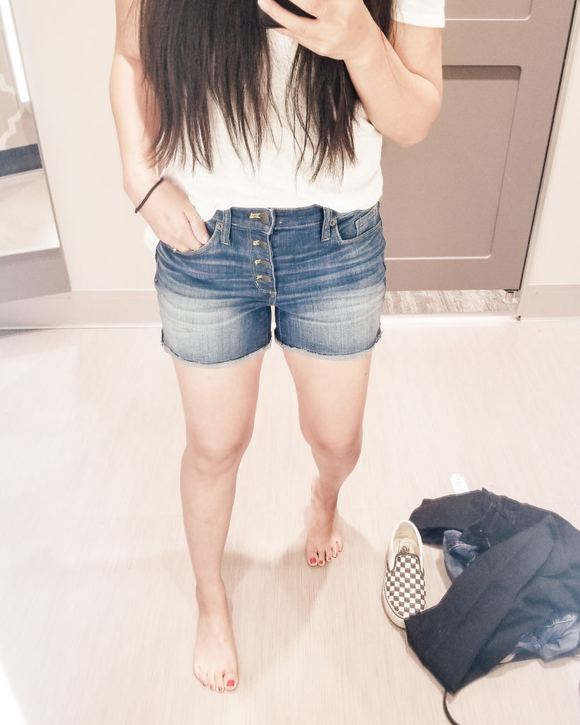 target try on shorts for mom