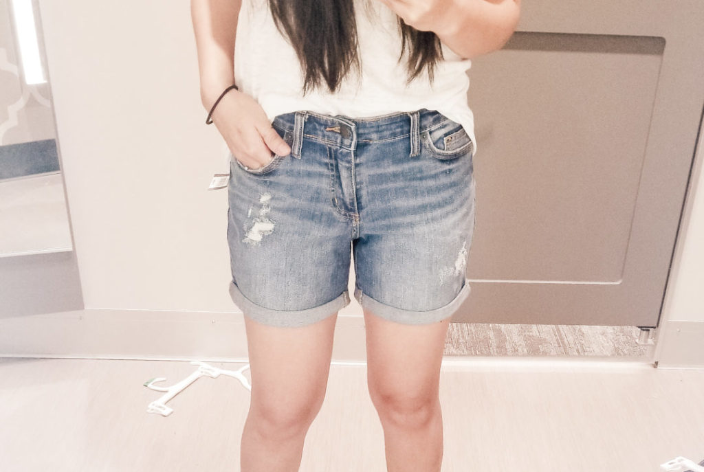 target try on shorts for mom uniform