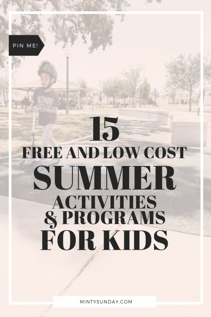 15 Free to Low-Cost Summer Activities for Kids