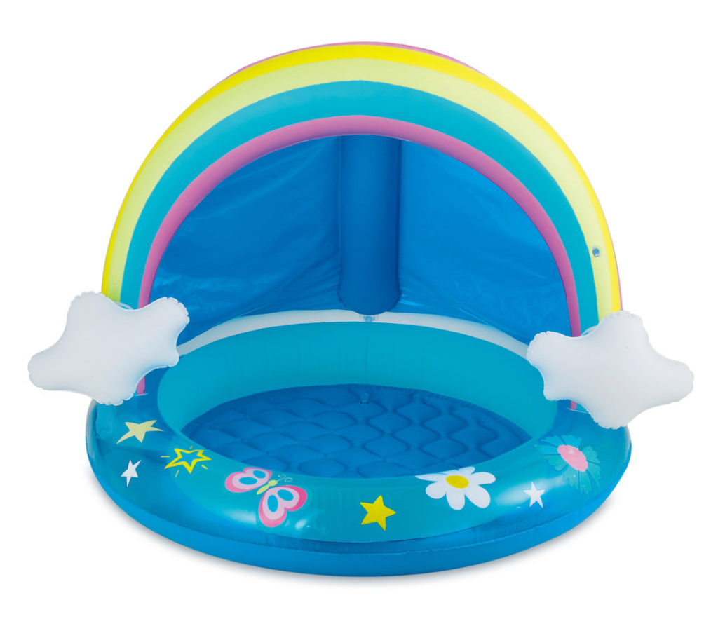 walmart inflatable kiddie pools rainbow
