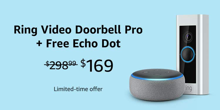 how to shop Amazon Prime Day ring video doorbell pro and free echo dot