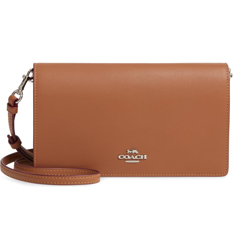 nordstrom anniversary sale coach calfskin leather foldover convertible clutch