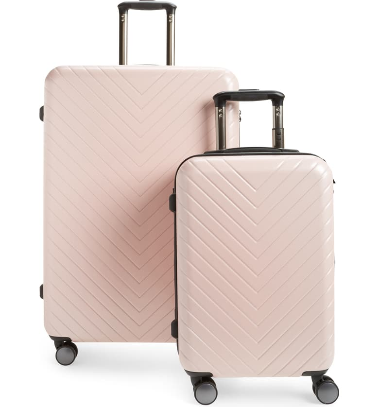 nordstrom anniversary sale guide chevron spinner luggage set