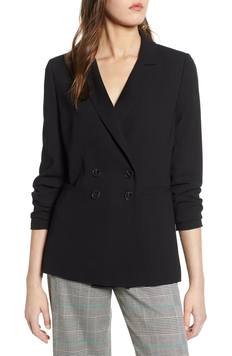 nordstrom anniversary sale guide halogen double breasted blazer