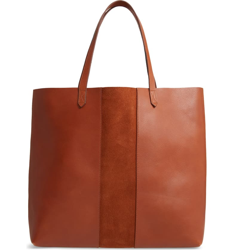 nordstrom anniversary sale guide madewell suede stripe transport leather tote
