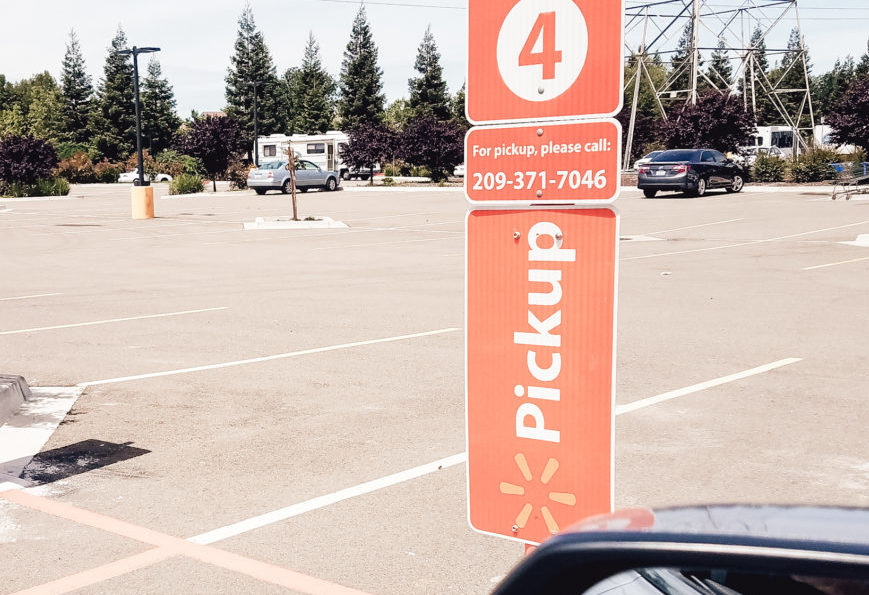 walmart grocery pickup review 3 parking spot
