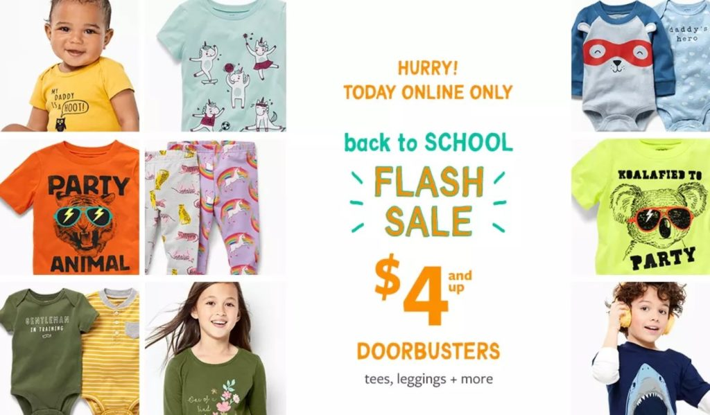 back to school clothes sale