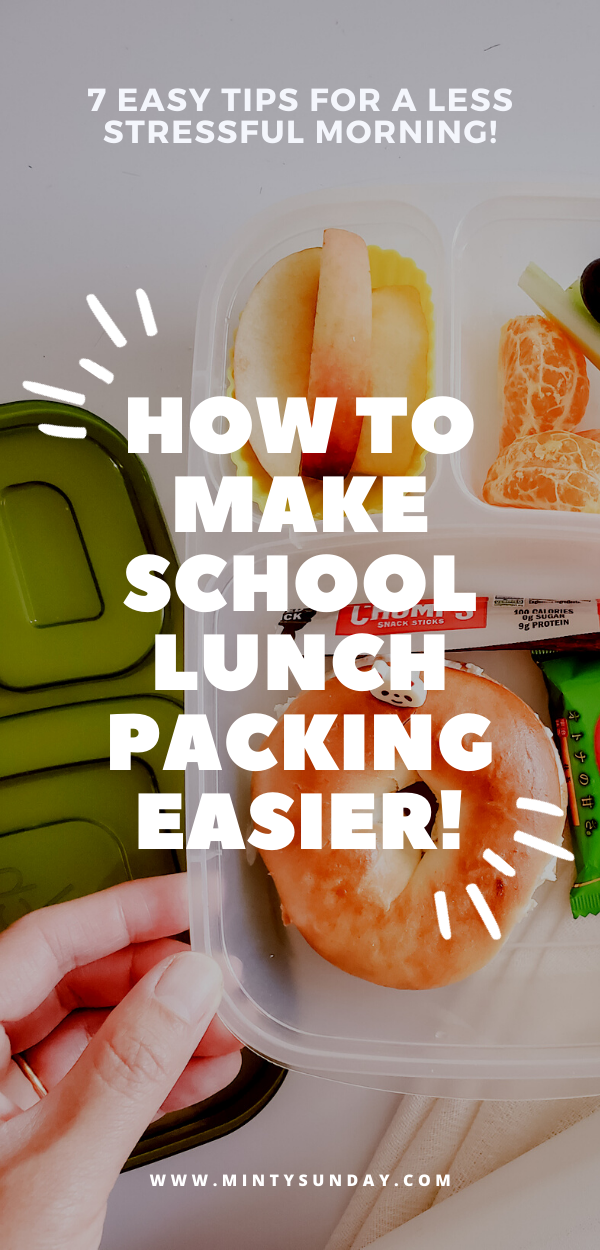 school lunch packing ideas to reduce stress