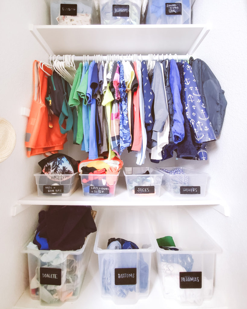 How to declutter and organize kids closet easy method and hacks // mintysunday.com