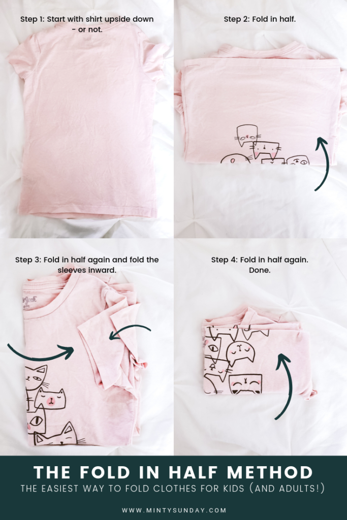 Declutter and organize kid's closet in 5 easy steps plus the easiest way to fold clothes