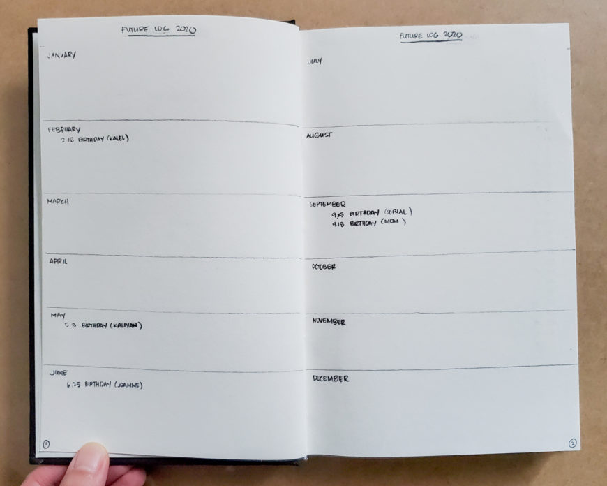 Bullet Journal Setup Step by Step Future Log Easy