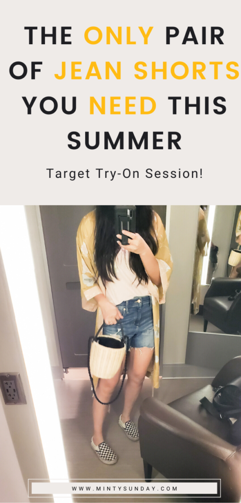 target try on best jean shorts for summer