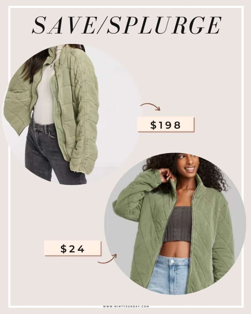 target quilted jacket free people dupe